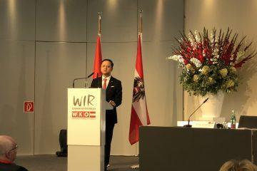 Chủ tịch NDTC Fire & Security thay mặt đoàn Doanh nghiệp Việt Nam phát biểu tại Diễn đàn Kinh tế Việt – Áo